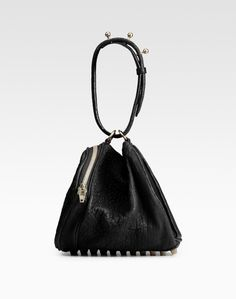 Black Angela Leather Mini Bag