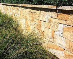 Aussietecture natural stone supplier has a unique range natural stone products for walling, flooring & landscaping. Sandstone Cladding, Sandstone Wall, Natural Stone Wall, Natural Stones, Landscape Architecture, Landscape Design, Wall Design, House Design, Stone Retaining Wall