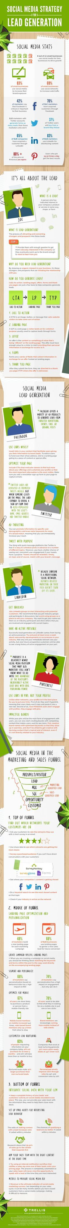 Social Media Marketing Strategy for Lead Generation [Infographic]