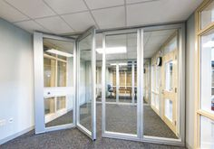"These the kind of conference room ""garage doors"" you were talking about?"