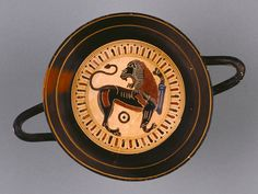 Black-Figure Kylix; Attributed to Hunt Painter (Greek (Lakonian), active 565 - 530 B.C.); Sparta, Greece; about 540 B.C.; Terracotta; 8.8 × 17 × 11.7 cm (3 7/16 × 6 11/16 × 4 5/8 in.); 86.AE.51