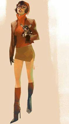 Scooby-Doo's 'Velma' by Otto Schmidt Character Design Cartoon, Character Design Animation, Character Design References, Character Design Inspiration, Character Art, Character Sketches, Character Concept, Otto Schmidt, Cartoon Faces