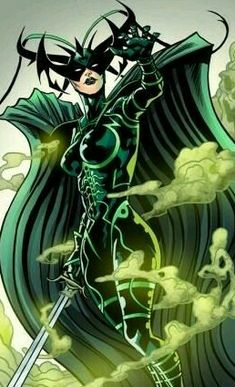 """comic-book-ladies: """"Hela by Will Sliney and Veronica Gandini """" Comic Book Characters, Marvel Characters, Comic Character, Comic Books Art, Female Characters, Comic Art, Marvel Hela, Marvel Comics, Marvel Vs"""