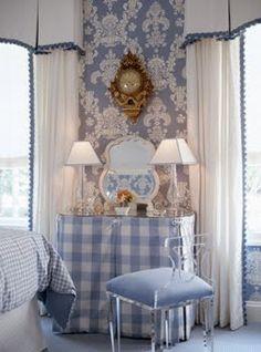 wallpaper and drapes