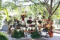 Mesa de doces - decoração de casamento boho ( Decoração: Tais Puntel | Local: Fazenda Lageado |  Foto: Duo Borgatto )