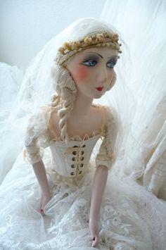 Antique French Boudoir Doll Paris Edwardian Wedding Wax Fashion Doll C 1920 | eBay
