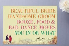 after a year and a half of working in the wedding invitation industry, THIS wins