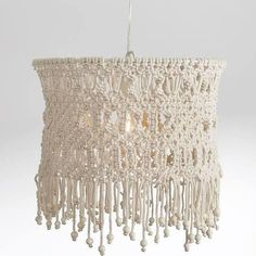 wood bead chandeliers - Google Search