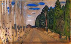 The Athenaeum - Landscape with a Road (Edvard Munch - )