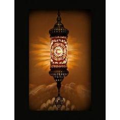 Turkse hanglamp mozaïek bruin & beige