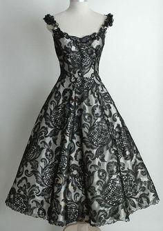 Vintage dress c. 1950-Gorgeous.