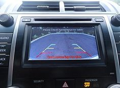 Toyota Camry SE and XLE Integrated Backup Camera Kit (2012-2014) for Factory Radio (Color: Black)