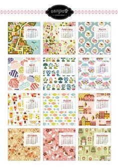 sanpo堂ブログ:さんぽ堂: 2014年度doodleカレンダー