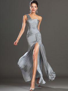 Silver Formal Dresses, Formal Dresses Online, Formal Dresses For Women, Silver Dress, Dress Formal, Dress Online, Formal Gowns, Evening Party Gowns, Chiffon Evening Dresses