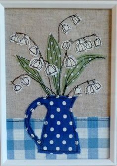 45 Ideas Sewing Art Painting Machine Embroidery For 2019 Freehand Machine Embroidery, Free Motion Embroidery, Free Machine Embroidery, Applique Quilts, Embroidery Applique, Embroidery Patterns, Embroidery Cards, Quilting Patterns, Quilting Designs