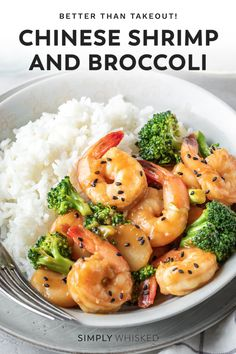 This Chinese shrimp and broccoli recipe comes together in less than 30 minutes, and the final results are so much better takeout. Shrimp And Broccoli, Broccoli Stir Fry, Broccoli Recipes, Dairy Free Recipes Easy, Shrimp And Rice Recipes, Asian Stir Fry, Clean Eating Dinner, Asian Recipes, Fish Recipes