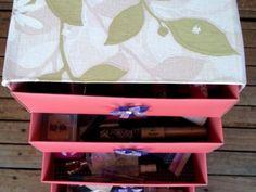 Organizador de Maquiagem com Caixa de Sapato Passo a Passo | Reciclagem no Meio Ambiente – O seu portal de artesanato com material reciclado