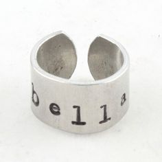 Girl Custom Personalized Ring Band Hand Stamped by TheSilverDiva, $13.00