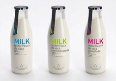 Bouteilles de lait design