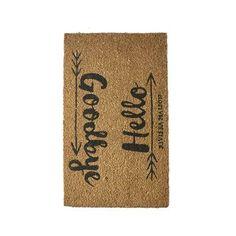 Geef jouw gasten een warm welkom en een vriendelijk afscheid met de vrolijke Hello Goodbye deurmat van Rivièra Maison. De mat is gemaakt van kokosvezels en neemt vuil en vocht goed op. Ideaal toch?