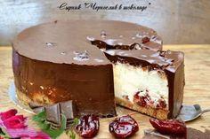 Торт-сырник Чернослив в шоколаде