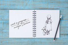 work in progress - analoges Zeichnen Designs, Notebook, Bullet Journal, Blog, One Day, Role Models, Studying, To Draw, Blogging