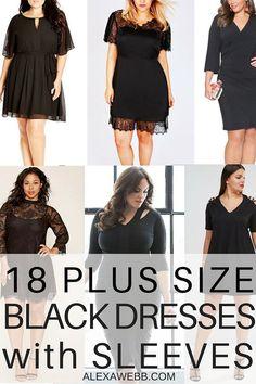 bf97687da99 18 Plus Size Black Dresses with Sleeves - Plus Size LBD - Plus Size Fashion  -