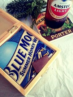6. Coasters from beer labels.