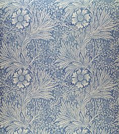 William Morris Wallpaper | Content in a Cottage, probably one of the first 'paisley' wallpaper designs on the market. again very organic, free flowing yet with a repeat pattern