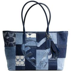 Coach Poppy Denim Patchwork Sequins Tote 17054  --  Is This cool or what??