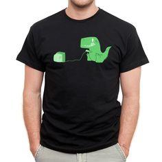 Gamesaurus rex men's black t-shirt - hardtofind.