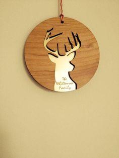 personalised laser cut christmas decoration by pollyandme | notonthehighstreet.com