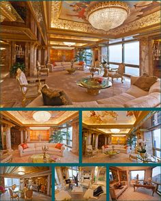 The Subtle Home of Donald Trump...Homey, Simple, Understated  :)