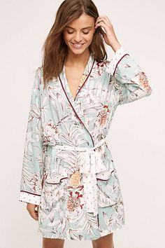 Anthropologie EU Jardin Floral Robe, Mint