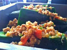 Stuffed peppers are fun, easy dishes to make and are great to make when you have people coming over, vegetarian or non-veg. This case I didn't make them for guests. Instead I made them for my best ...