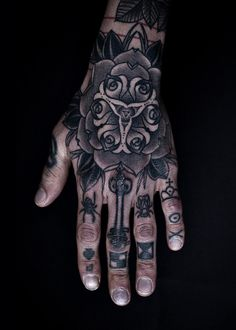 Left hand tattoo