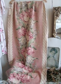 barkcloth is one of my favs!!. . . Cabin & Cottage : Dusty Rose Bark Cloth