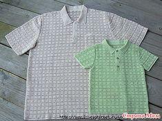 Мужская футболка поло - Вязание - Страна Мам