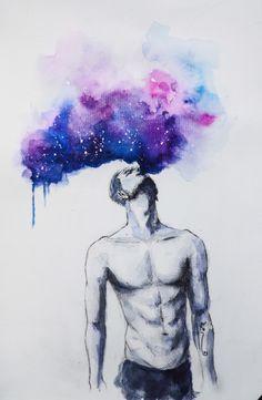 #Galaxy  #Watercolor  #art #by me