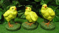 Baby Chicks Chickens Set Of Three Latex Fiberglass Production Mold Concrete #StoneManMolds