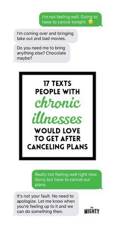 17 Texts People With Chronic Illnesses Would Love to Get After Canceling Plans. This made me cry