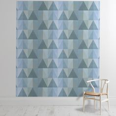 'Mera Blue Green' Wallpaper Mural from the Imogen Heath collection. Green Wallpaper, Canvases, Wall Murals, Bespoke, Blue Green, Shop, Inspiration, Collection, Color