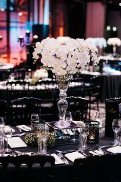 8 Spectacular School Formal & Graduation Ball Themes for 2018 - Doltone House Formal Party Themes, Formal Party Decorations, Party Table Centerpieces, White Centerpiece, Ball Decorations, Event Themes, School Decorations, Event Decor, College Graduation Parties