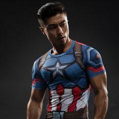 Captain America Shield Compression Shirt