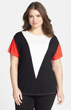 Vince Camuto Colorblock Tee (Plus Size) available at #Nordstrom