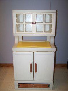 Vintage Little Tikes Kitchen Hutch Cupboard Cabinet Food Pantry Storage