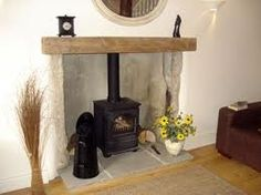 cottage fireplace - Google Search