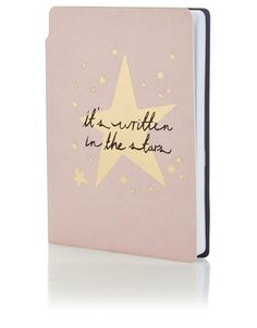 Star notebook . 'it's written in the stars' pink accessorize
