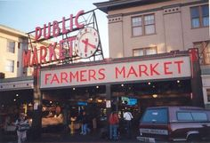Farmer's markets in Seattle, WA. One of the reasons I can't wait to move there next summer!