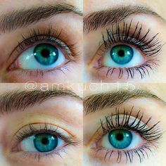 Love this example pic. Younique 3D fiber lash mascara on the right.  Only $29 and seriously the best mascara you can get Order yours here, www.longlashsecret.com